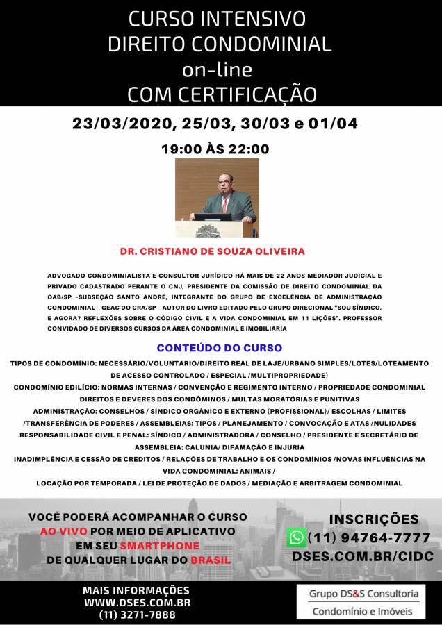 CURSO INTENSIVO ON-LINE DE DIREITO CONDOMINIAL